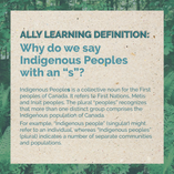 """Why do we say Indigenous Peoples with an """"s""""?"""