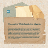 Unlearning While Practicing Allyship