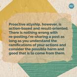 Proactive vs. Reactive Allyship Slide 3