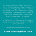 Practice allyship at yourr workplace.