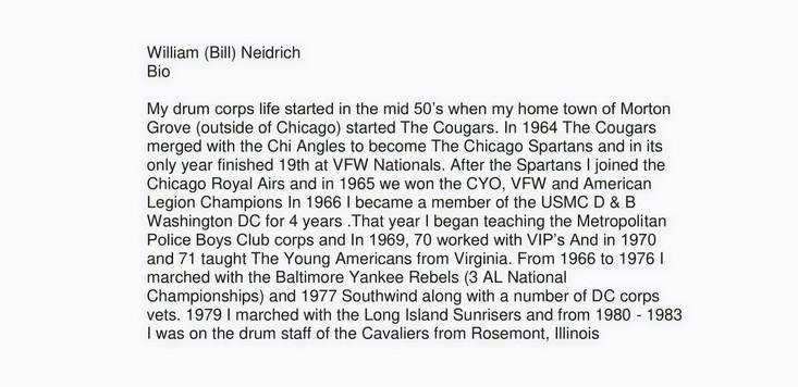 William ( Bill) Neidrich (BIO) 2020