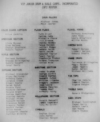 VIP 1972 Roster