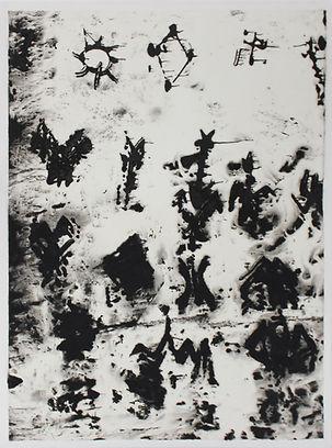 SANS TITRE (7), gouache sur papier Japon