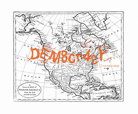 DEMOCRACY, lithographie, 50 x 60 cm, 201