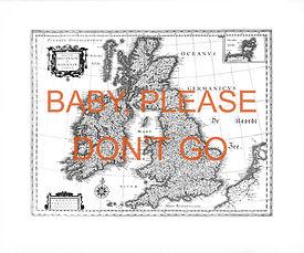 Nasreddine Bennacer lithographie baby pease don't go carte UK