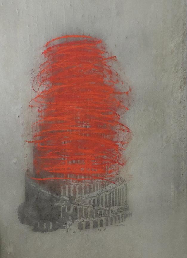 Nasreddine Bennacer tableau painting tour de babel autodafé
