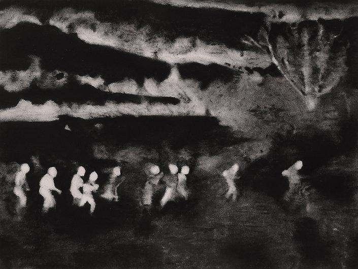 Lucioles 1, Pastel sur papier Arches, 50
