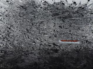 Nasreddine Bennacer gouache sur papier migrants bateau