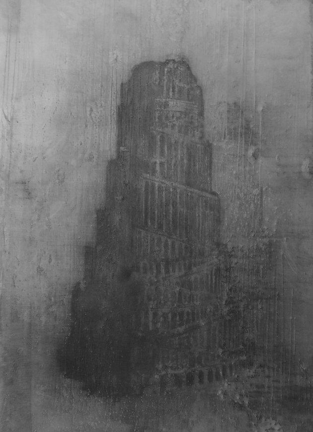 Nasreddine Bennacer tableau painting tour de babel mirage