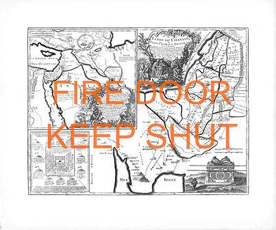 Nasreddine Bennacer lithographie fire door keep shut palestine