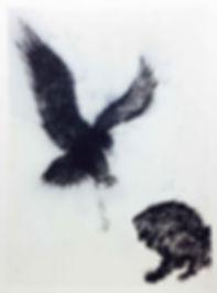 L'aigle,_le_lion_et_la_souris,_2012,_Gou