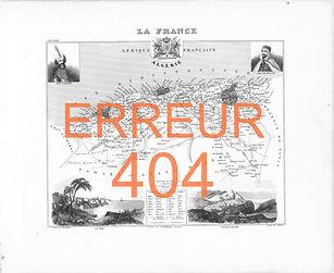 Nasreddine Bennacer lithographie erreur 404 carte Algérie France colonialiste