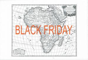 Nasreddine bennacer black friday print lithograhy lithographie afrique carte map