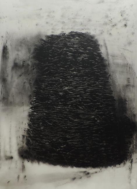 Nasreddine Bennacer migrants artiste nacer abstract tableau painting tour de babel go with the flow