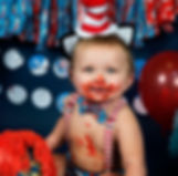 smash cake dr suess blue boy baby one year shoot photo ideas pose outfit