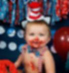 Smash Cake Dr Suess Baby Photo Shoot