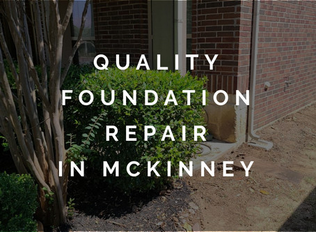 Providing Quality Foundation Repair Services in McKinney