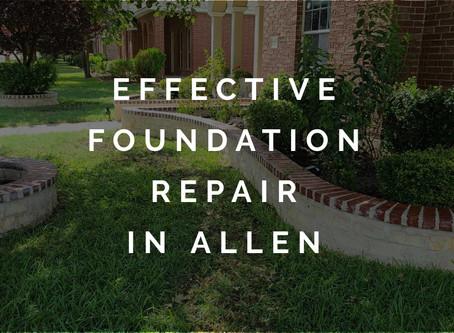 Effective Foundation Repair for Allen Homeowner