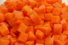 zanahoria cubo