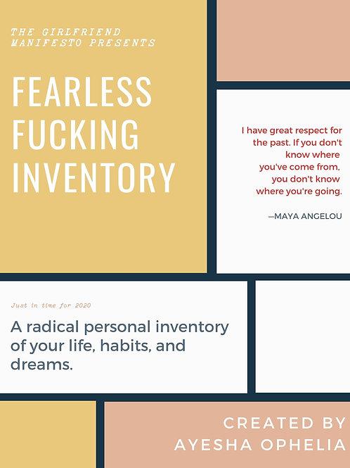 Fearless Fucking Inventory Workbook