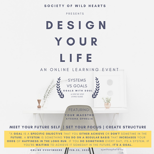 Design Your Life Online Learning Event