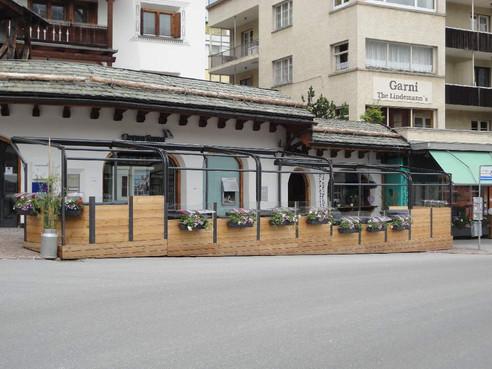 Ansicht Gartenrestaurant