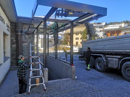 Dachkonstruktion Posthotel Valbella
