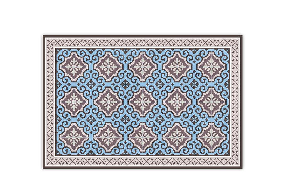 Clasico - Vinyl Table Placemat - Blue Spanish tiles pattern