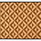 Thumbnail: Parquet - Bamboo Mat - Dark brown geometric pattern