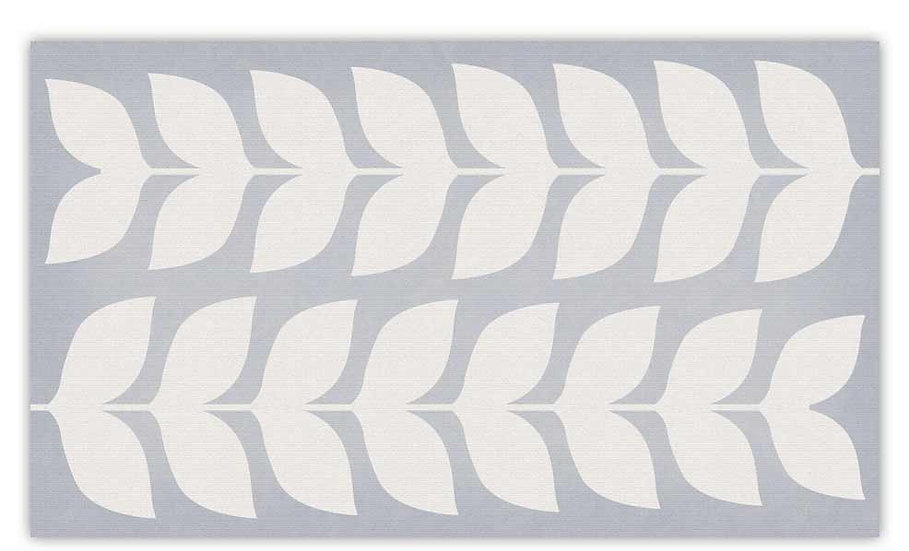 Jasmine - Vinyl Floor Mat - Gray graphic pattern