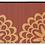 Thumbnail: Pimpernels - Bamboo Mat - Bordeaux botanical pattern