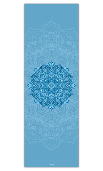 """שטיח יוגה מנדלה כחול במידה 60/180 ס""""מ"""