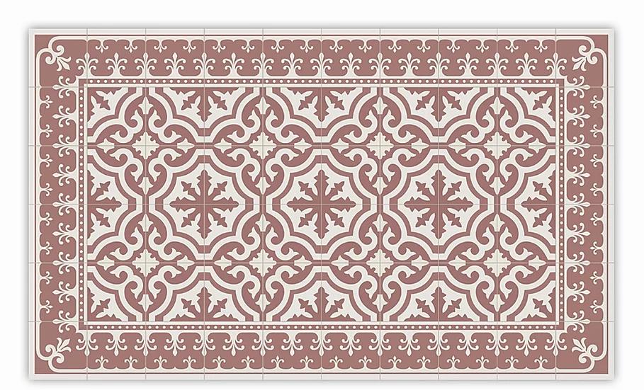 Tuscany - Vinyl Floor Mat - Terracotta classic tiles pattern