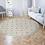 Thumbnail: Round Marrakesh - Vinyl Floor Mat - Pink and green Moroccan tiles pattern