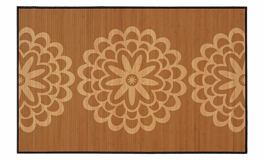 Pimpernels - Bamboo Mat - Brown botanical pattern