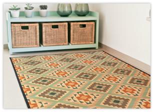 שטיחי במבוק מודפסים