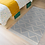 Thumbnail: Zigzag - Vinyl Floor Mat - Light gray graphic pattern
