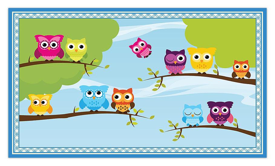 פיויסי ינשופים על ענף לילדים - במגוון מידות