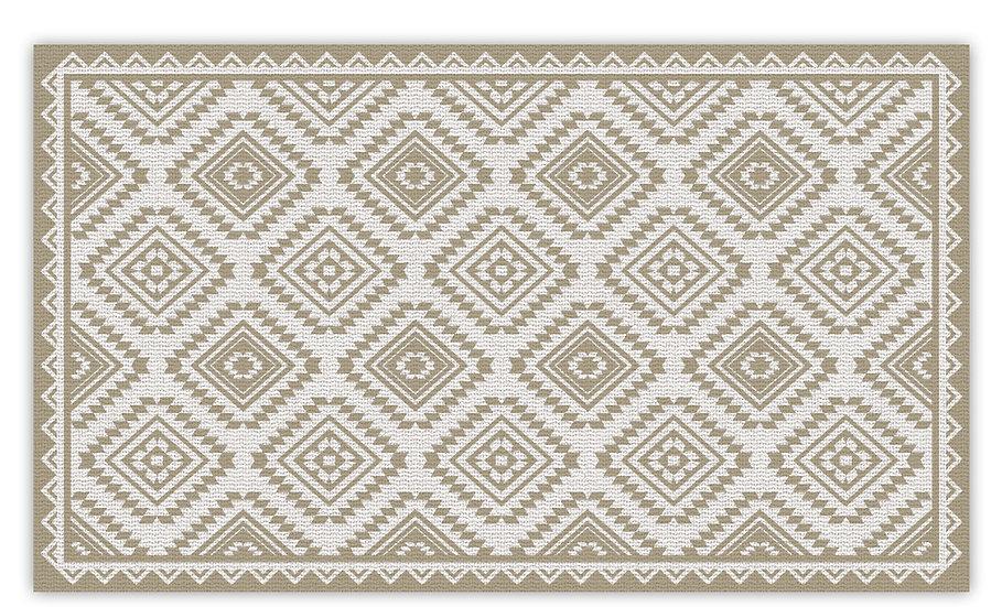 Casablanca - Vinyl Floor Mat - Baige classic ethnic pattern