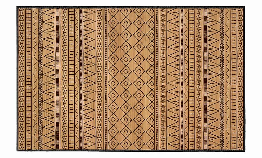 Cinnamon - Bamboo Mat - Natural ethnic pattern
