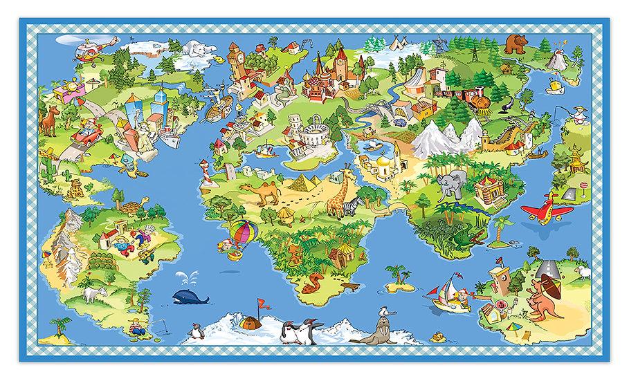 שטיח פעילות מפת תרבויות העולם - במגוון מידות