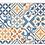 Thumbnail: Portugal - Vinyl Floor Mat - Blue and orange mix tiles pattern