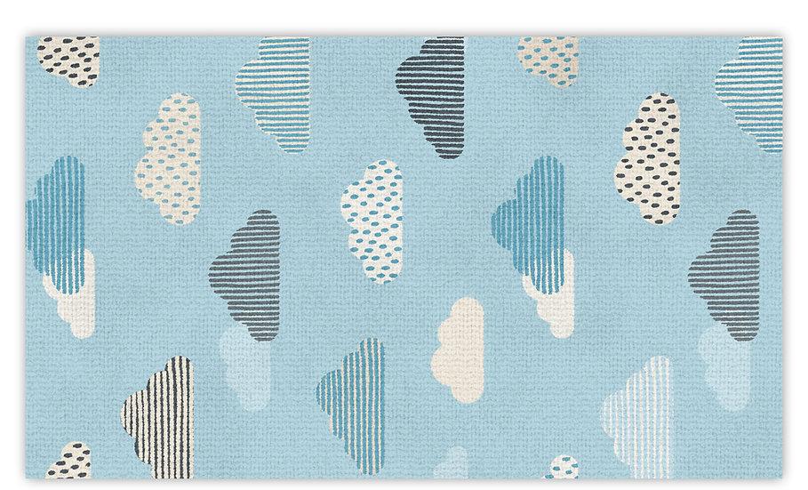 שטיח פעילות עננים כחולים לילדים - במגוון מידות