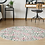 Thumbnail: Round Portugal - Vinyl Floor Mat - Green and pink mix tiles pattern
