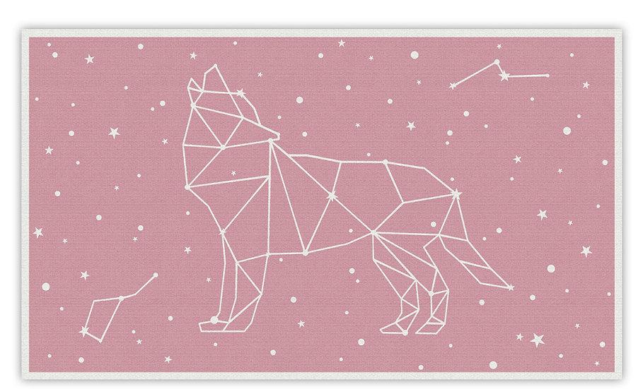 פיויסי זאב כוכבים ורוד לילדים - במגוון מידות