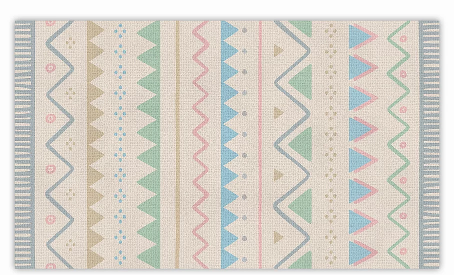 Ariel - Vinyl Floor Mat - Colorful graphic pattern