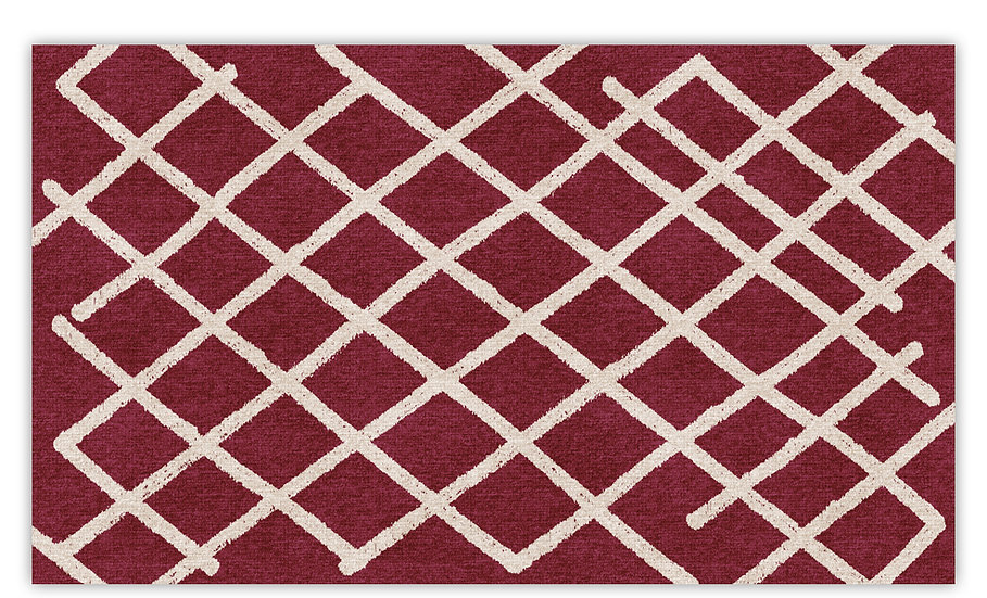 Isfahan - Vinyl Floor Mat - Bordeaux graphic pattern