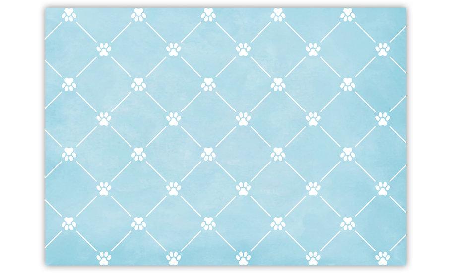 שטיח לחיות מחמד טקסטורה כלב תכלת - במגוון מידות