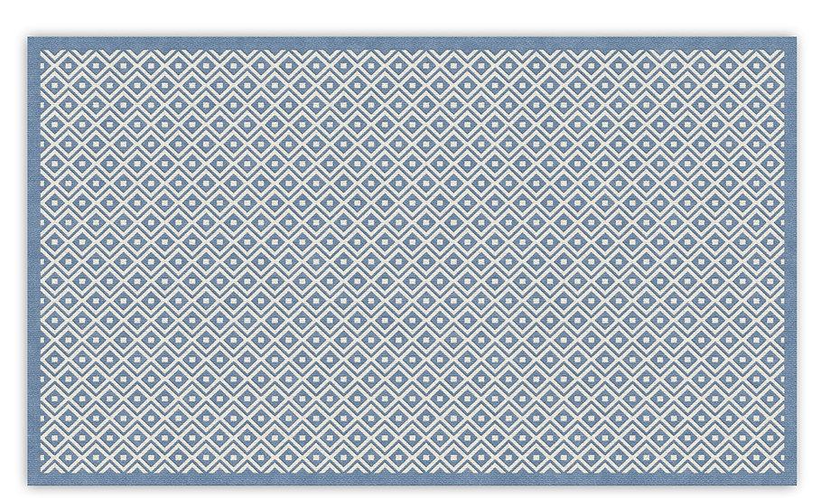 Margo - Vinyl Floor Mat - Blue graphic pattern