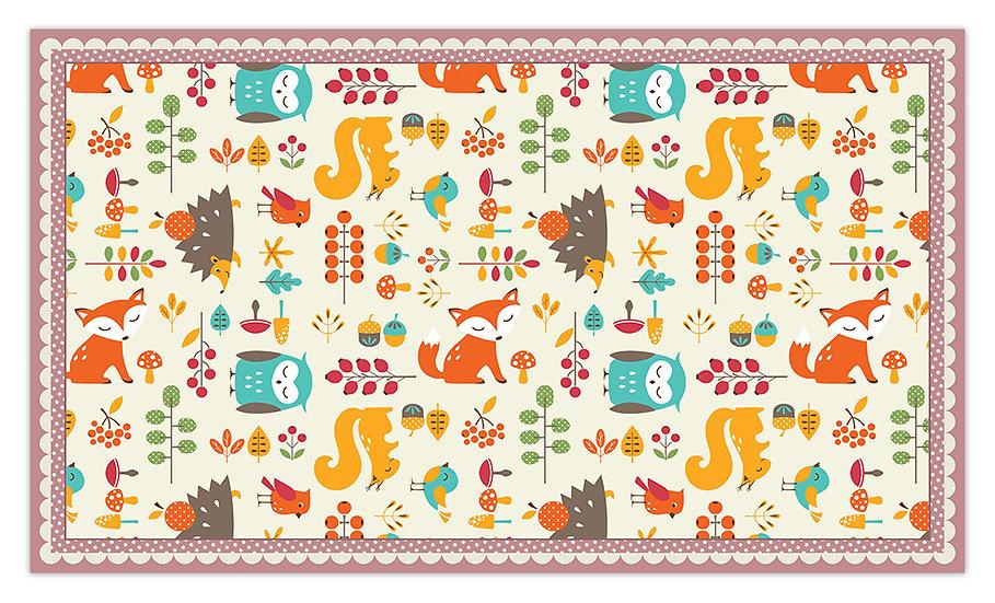 Animals - Vinyl Floor Mat - Pink animals theme